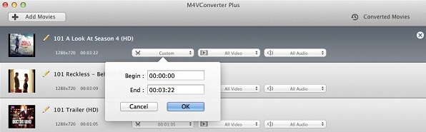 Clip videos to convert