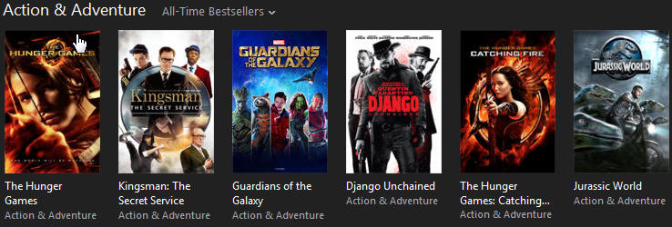 iTunes Action & Adventure movies