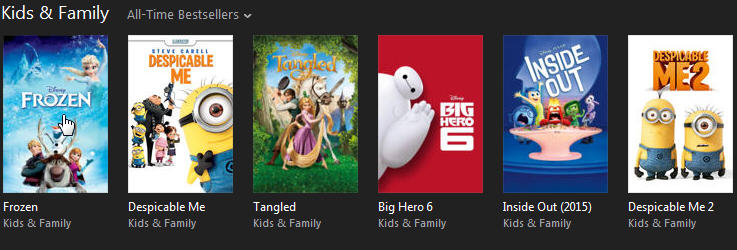 iTunes Kids & Family movies
