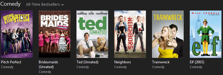 iTunes comedy movies
