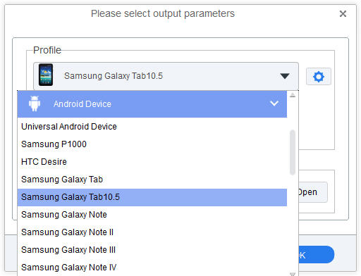 Convert iTunes videos for galaxy tab 10.5