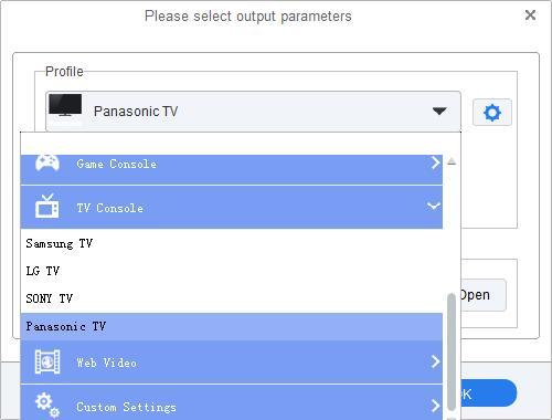 Convert iTunes movies to Panasonic TV