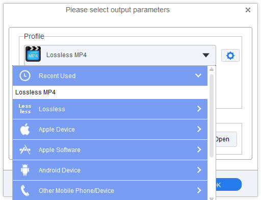 The interface of the M4V to MP4 Converter
